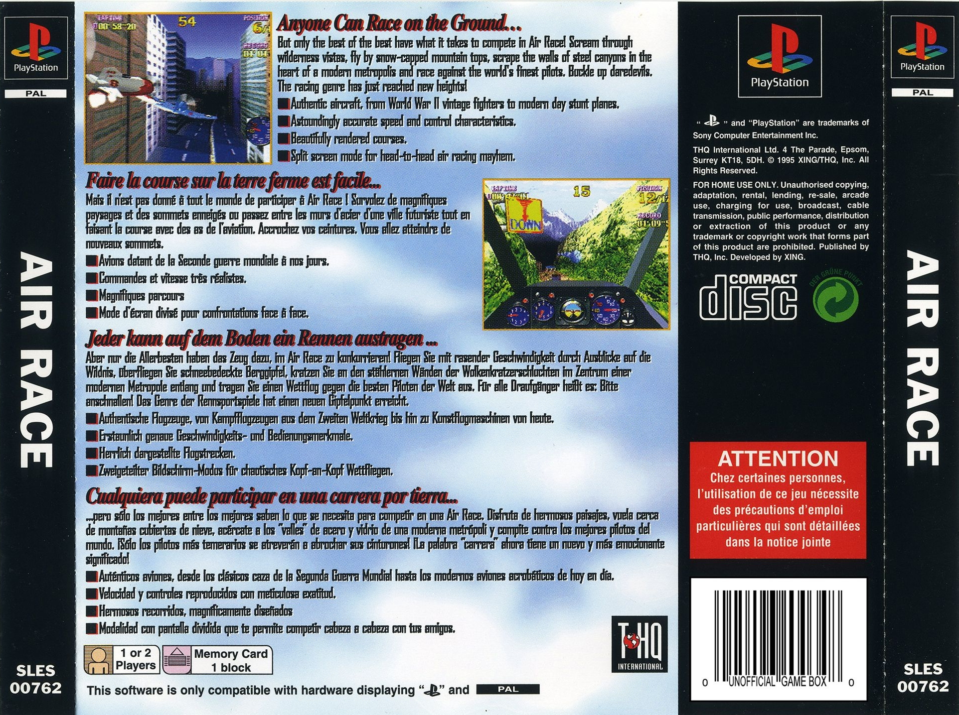 Air Race [SLES-00762] - PSX Planet: SONY PlayStation Community