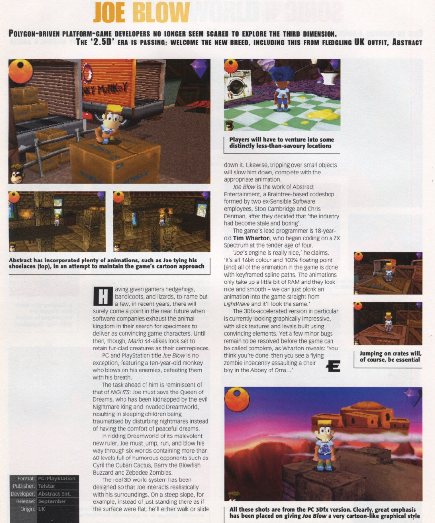 Scans from Edge issue 48 and GameFan5-8. All in-game screenshots are from the PC version.