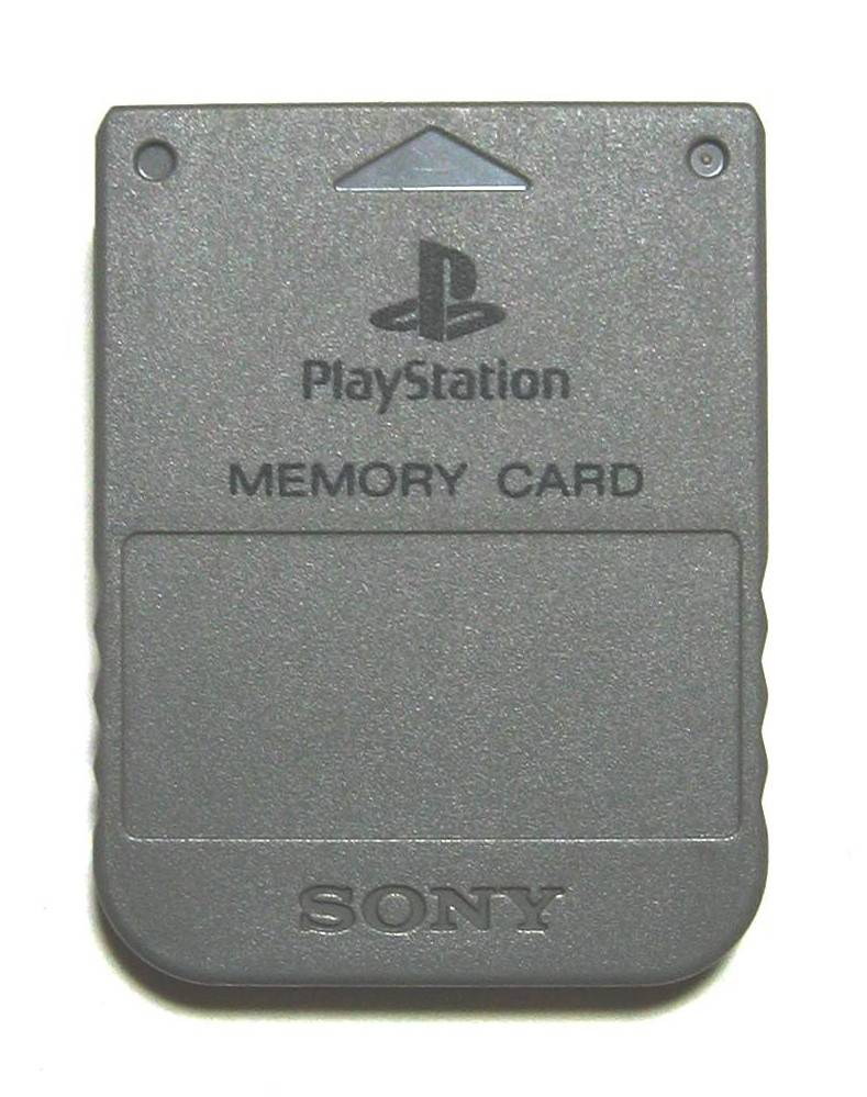 Карта памяти PlayStation (Memory Card SCPH-1020, 1 Мбит/128 Кбайт).