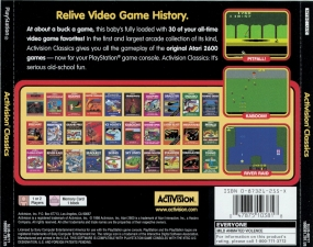 A Collection Of Activision Classic Games For The Atari 2600 (SLUS-00777) (Back)