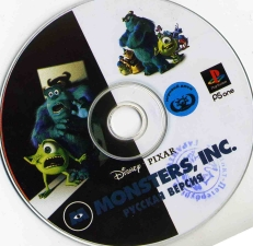 Disney-Pixar Monsters Inc. Scream Team (SCUS-94635) (Russian) (Megera/RGR Studio) (CD)