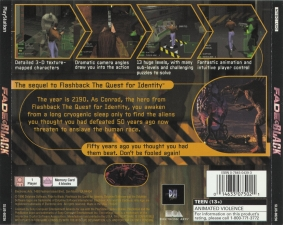 Fade To Black (SLUS-00236) (Back)