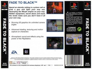 Fade To Black (Value Series) (SLES-00209) (Back)