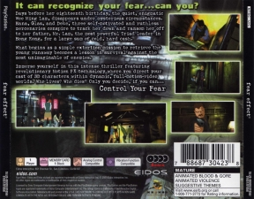 Fear Effect (4CD) (SLUS-00920-01056-01057-01058) (Back)