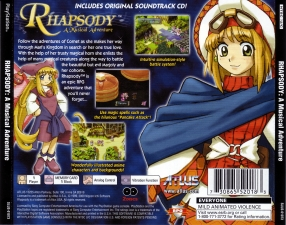 Rhapsody A Musical Adventure (SLUS-01073) (Back)