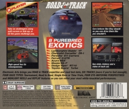 Road & Track Presents The Need For Speed (SLUS-00204) (Back)