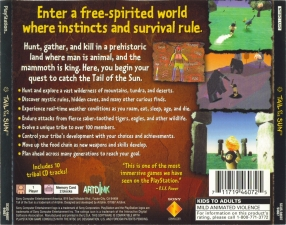 Tail Of The Sun: Wild, Pure & Simple Life (SCUS-94607) (Back)