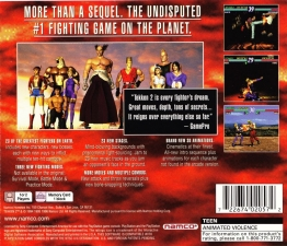Tekken 2 (Greatest Hits) (SLUS-00213) (Back)